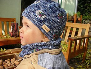 Detské čiapky - Modrá čiapočka - 8700648_
