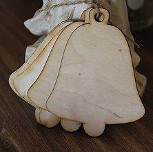 Polotovary - výrez vianočný zvonček 9cm - 8698943_