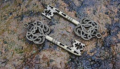 Komponenty - kovová ozdoba kľúč - 8699123_