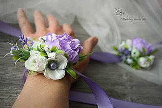 Náramky - Náramky na stuhe z kvetov - 8700886_