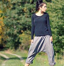 """Nohavice - Lněné turky """"Gris"""" - 8700746_"""