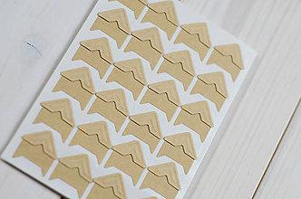 Iný materiál - Papierové fotorožky - kraft - 8699554_
