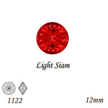 Korálky - SWAROVSKI® ELEMENTS 1122 Rivoli - Light Siam, 12mm, bal.1ks - 8700868_