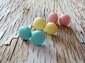 Náušnice - pastelkové ďobky- 3 farby na výber - 8700954_