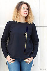 Mikiny - Dámska mikina čierna IO4 - 8697695_
