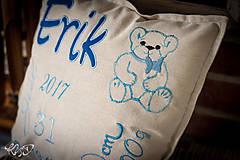 """Úžitkový textil - Vankúšik pre novorodenca """"Erik"""" - 8704881_"""
