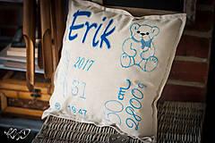 """Úžitkový textil - Vankúšik pre novorodenca """"Erik"""" - 8704882_"""