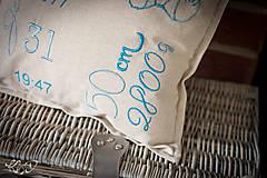"""Úžitkový textil - Vankúšik pre novorodenca """"Erik"""" - 8704885_"""