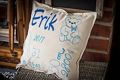 """Úžitkový textil - Vankúšik pre novorodenca """"Erik"""" - 8704886_"""