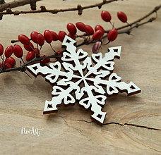 Dekorácie - Vianočná ozdoba Vločka I. - 8702135_