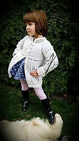 Detské oblečenie - Svetrík biely - dievčatko :) - 8702155_