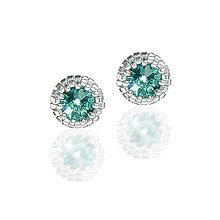 Náušnice - NAPICHOVAČKY SW8 podľa želania Ag 925 (E - emerald) - 8704903_