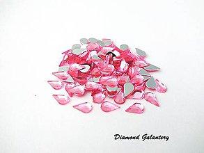 Galantéria - Ozdobné kamienky 5x8 mm - ružové - 8703658_