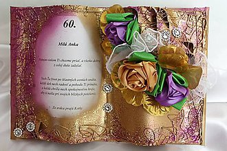 Papiernictvo - Gratulačná kniha k narodeninám - 8704220_