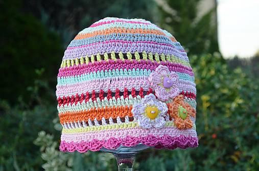 1083ab2f8 Skladom- Háčkovaná čiapka / kitto - SAShE.sk - Handmade Detské čiapky