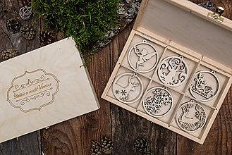 Dekorácie - Vianočné ozdoby z dreva - KOLEKCIA SNEHOVÉ KRÁĽOVSTVO - 8704475_