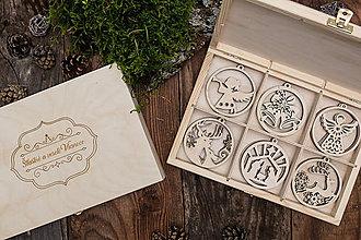 Dekorácie - Vianočné ozdoby z dreva - KOLEKCIA ZVONKY ŠŤASTIA - 8704557_