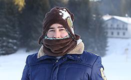Čiapky - Originálna pánska čiapka + nákrčník - 8704791_