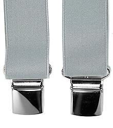 Doplnky - Pánske traky na klip jednofarebné (šedé) - 8703888_