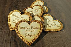 Magnetky pre svadobných hostí srdce