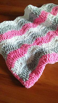 Textil - Háčkovaná deka ,,cik-cak,, - 8703003_