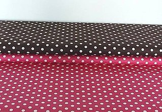 Textil - Látky bodkované  6 mm - 8703307_