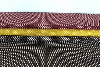 Textil - Látky bodkované  2 mm žltá - 8703346_