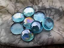 - Sklenené kamienky modrozelené - 8703510_
