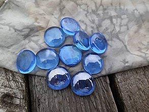 Polotovary - Sklenené kamienky svetlomodré - 8703544_
