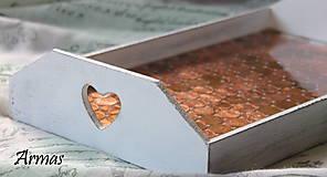Krabičky - Tácka plná peňazí - 8709540_