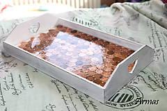 Krabičky - Tácka plná peňazí - 8709542_