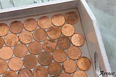 Krabičky - Tácka plná peňazí - 8709555_