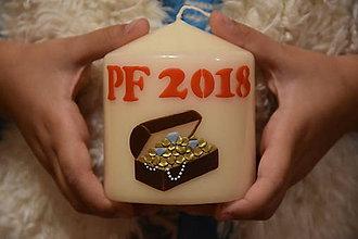 Svietidlá a sviečky - PF 2018 - truhlica s pokladom - 8708198_