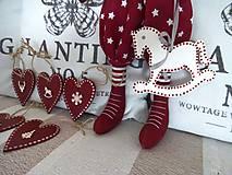 Dekorácie - Vianočné srdiečka - 8706108_