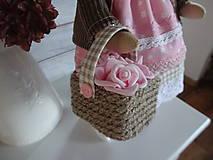 Bábiky - Ružovohnedá myška - 8709509_