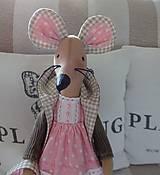 Bábiky - Ružovohnedá myška - 8709512_