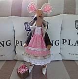 Bábiky - Ružovohnedá myška - 8709514_