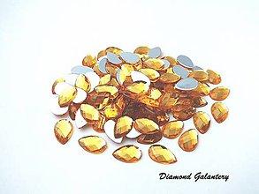 Galantéria - Ozdobné kamienky 8x13 mm - zlaté - 8705814_