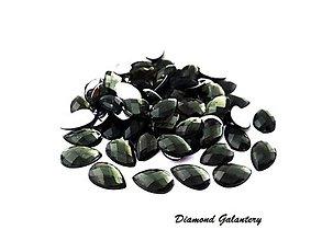 Galantéria - Ozdobné kamienky 8x13 mm - šedé - 8705819_