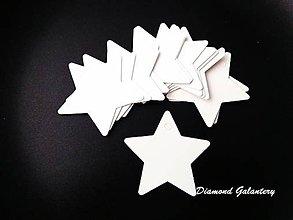 Polotovary - Vianočná vysačka papierová hviezda - biela - 8708112_