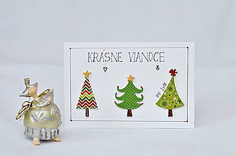 Papiernictvo - Vianočné prianie - Stromčekové variácie - 8706499_