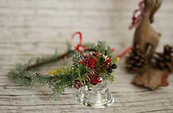 Ozdoby do vlasov - Vianočný venček - 8709573_