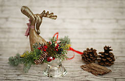 Ozdoby do vlasov - Vianočný venček - 8709574_
