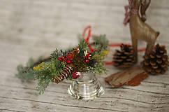 Ozdoby do vlasov - Vianočný venček - 8709575_