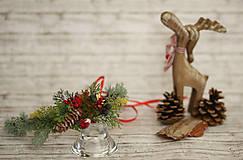Ozdoby do vlasov - Vianočný venček - 8709576_