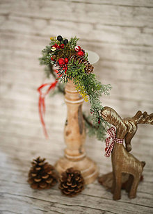Ozdoby do vlasov - Vianočný venček - 8709673_