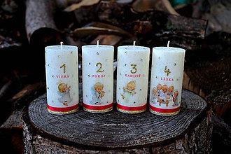 Svietidlá a sviečky - Anjelské adventné sviečky - 8708486_