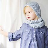 Detské čiapky - KAPUCÍNKA s nákrčníkom MINI - 8707620_