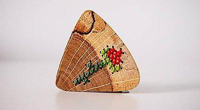 Odznaky/Brošne - Brošňa - Zakvitnutá ruža v dube - 8707698_