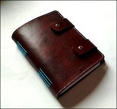 Papiernictvo - Luxusný kožený zápisník v čokoládovom prevedení A5 - 8706505_